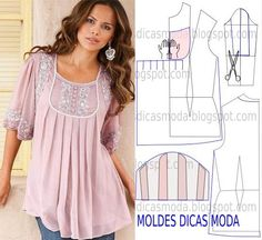 Blusa Rosa.  Beautiful Blouse !