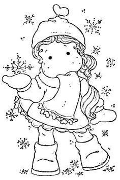 Special Stamp 2014 - Tilda With Ribbon Heart Scarf Colouring Pages, Adult Coloring Pages, Coloring Books, Christmas Colors, Christmas Art, Clipart Noel, Magnolia Colors, Penny Black, Copics