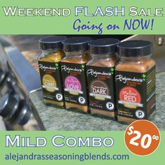 Have you been curious to taste my salt-free seasoning blends? This weekend ONLY, get the MILD combo set for $20. Make them your new grilling mates! Offer ends tonight #SALE #Cooking #Paleo #GlutenFree www.alejandrasseasoningblends.com