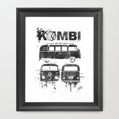 Framed Art Prints, Vw, Cool Stuff