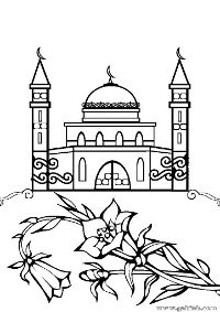 Mosque Coloring Pages