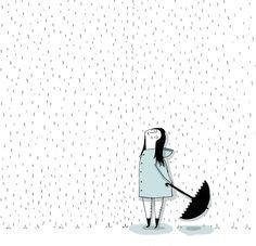 Face the rain ~ Tatiana Torres Umbrella Art, Under My Umbrella, Cute Illustration, Graphic Design Illustration, Doodle Paint, Little Doodles, Stencil Art, Cool Drawings, Cute Art