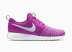 Nike Rosherun Flyknit Damen-Women's 704927-500 Pink Laufschuhe , Schuhgröße:EUR 38.5 - http://on-line-kaufen.de/nike/38-5-eu-nike-roshe-one-flyknit-damen-laufschuhe-6