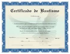 Certificado de Bautismo para Imprimir Gratis