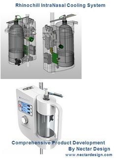 Rhinochill IntraNasal Cooling System  - It is a Comprehensive Product Development  By Nectar Design.