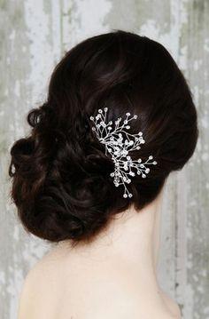 Set of Two Crystal Hair Pins