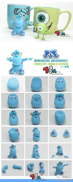 Monsters University Fimo tutorials, lovely burst!