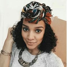 Fantastic Head Scarf Style...Discover More Scarf Styles to Wear With Natural Hair Here:www.naturalhairmag.com/3-easy-head-scarves-tutorial/ IG:@kolormekaye  #naturalhairmag #naturalhairstyleseasy