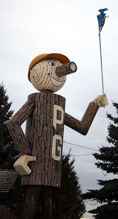 PG in Prince George, BC, Canada. I lived here for about 7 yearswhile growing up Tree Carving, Roadside Attractions, Canada Day, British Columbia, Places Ive Been, Growing Up, Beautiful Places, Prince, Around The Worlds
