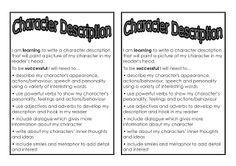 character description examples