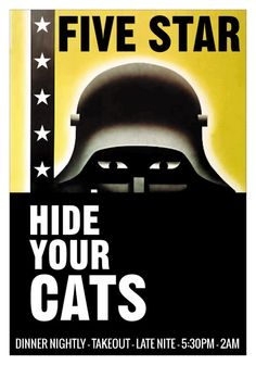Hide Your Cats-Cold War Restaurant Poster