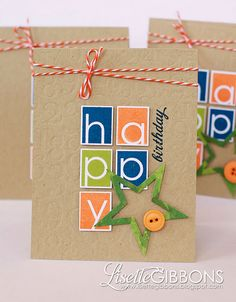 birthday card set - love this for mismatched alpha stickers