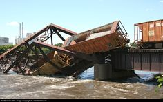 RailPictures.Net Photo: Cedar Rapids & Iowa City Railway Bridge at Cedar Rapids, Iowa by Joel Hinkhouse