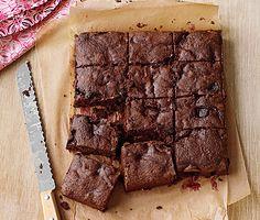 Dark-Chocolate Cherry Brownies Recipe   Epicurious.com