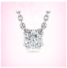 Round diamond solitaire pendant | Click for your chance to win a $1000 gift card from #Ritani via: http://contests.piqora.com/RitaniEndlessLove