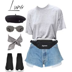 Untitled #361 by lennonhaze on Polyvore featuring мода, RE/DONE, Yves Saint Laurent and Chanel
