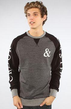 Crooks and Castles The Shadows Crewneck Sweatshirt in Black Speckle