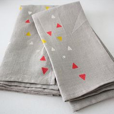 hand painted linen napkins.....love them!