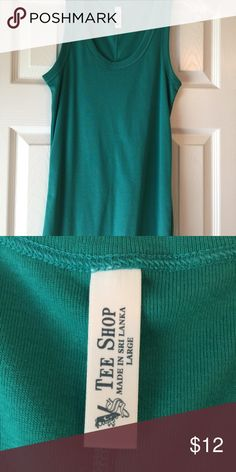 Tee Shop (Victoria Secret brand) tank top Teal green colored tank top in excellent condition. Smoke free and dog friendly home. Victoria's Secret Tops Tank Tops