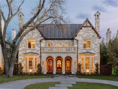 Beautiful stone & brick home 🌍 3605 Wentwood Drive, University Park, TX 🏠 Square Feet 🛏 5 Bedrooms 🛁 8 Bathrooms 💰 Not For Sale Villa, Tudor Style Homes, Tudor House, Dream House Exterior, House Goals, Curb Appeal, Exterior Design, Future House, Luxury Homes