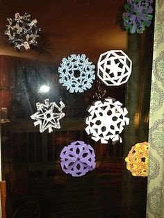Origami  Paper Snow Flakes I made this year for Christmas.