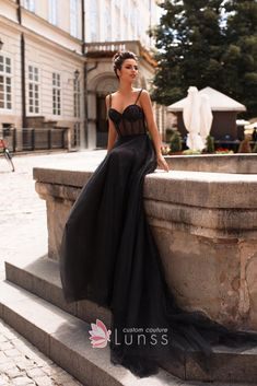 b9c3698be7d Glistening beaded black spaghetti straps sweetheart illusion bodice long formal  dress with tulle overlay. Black