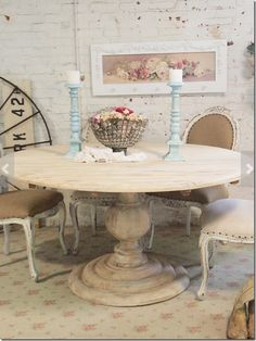 valmont dining table - rustic dining table, distressed dining