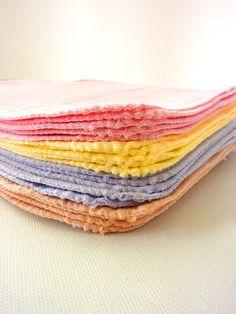 Cloth Wipes - Baby Shower Napkins - Unpaper Napkins - Cloth Diaper Wipes - Girl Cloth Wipes, $23.98
