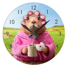 Avanti Press - Morning Groundhog with Breakfast Donut and Coffee. Regalos, Gifts. #reloj #clock