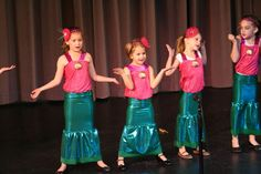 "Little girls preshow for American Fork Youth Theater production of ""The Little Mermaid, Jr."""