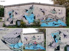 #Mural by #KLUB7 in #Berlin