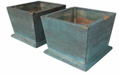Pair Of Blue Flower Boxes · Easton MdCountry ...