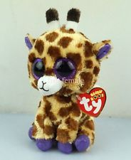 "Cute 6"" New Big Eyes TY Beanie Boos Safari Giraffe Plush Stuffed Toy Dolls EER49"
