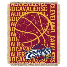 Cleveland Cavaliers Team Repeat Blanket w/ Fringe