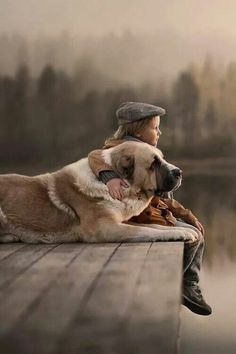 awwww... a boy and his dog