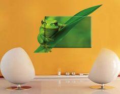 Leinwand-Wandtattoo Frosch