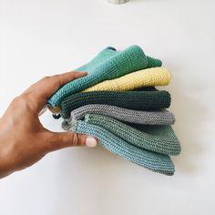 Essuie-mains en tricot, lavette bébé, knitted hand towel - Atelier Moune