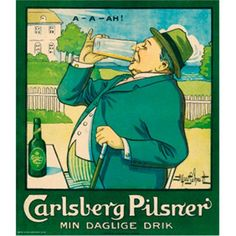Carlsberg Pilsner - Min daglige drik Plakat - 70 x 80 cm
