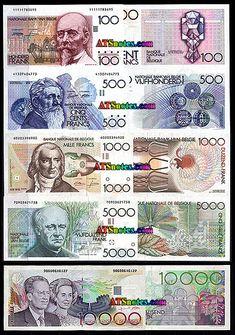 Belgium banknotes, Belgium paper money catalog and Belgian currency history