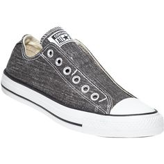 CONVERSE WOMEN S Converse Chuck Taylor All-Star Slip-On Sneaker ( 55) ❤  liked on Polyvore featuring shoes, sneakers, black canvas, black slip-on  shoes, ... 6eed3f67cdf1
