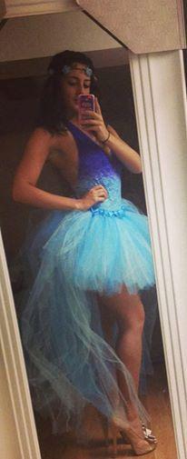 Hi Low Tutu Skirt Adult Running Marathon Princess Elsa From Frozen Rave Tutu Skirt Dress Birthday Party Costume Halloween