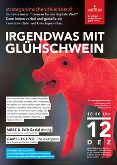 """""""Irgendwas mit Glühschwein"""" - Am 12. Dezember 2013 bei uns netzstrategen. Veranstaltungshinweis: https://www.facebook.com/events/1410723802498251/"""