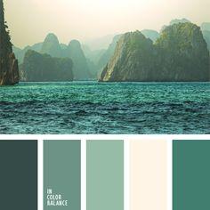 aqua/turquoise color palettes
