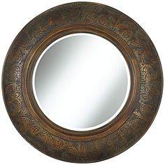 "Almonte 31"" Round Bronze Wall Mirror 