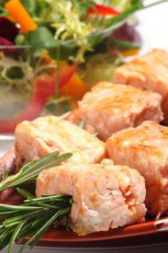 Photo about Salmon grilled on the rosemary skewers with vegetables. Image of restaurant, pears, dieting - 3828075 Photo Grill, Grilled Salmon, Shrimp, Kebabs, Steak, Grilling, Restaurant, Diet, Salmon Skewers