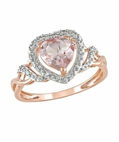 Heart stone rose gold ring