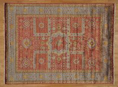 9' x 12' Hand Knotted Oriental Rug Bamboo Silk Mamluk Rust Red