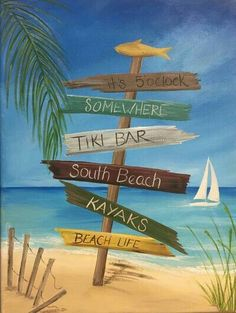 Painting Beach Scenes Canvases Trendy Ideas - Fushion News Beach Scene Painting, Summer Painting, Diy Painting, Painting & Drawing, Beach Canvas Paintings, Canvas Art, Beach Drawing, Paint And Sip, Pictures To Paint