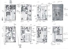 This example uses lots of notes and very quick marker techniques to layout the ELLE fashion magazine