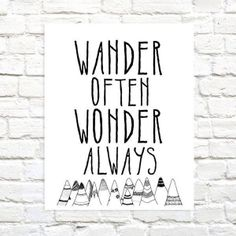 Wander Often Wonder Always® trademark Official Brand Print by Hello Small World…
